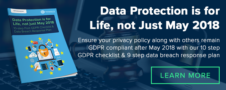 GDPR Privacy Policy and Data Protection for Life after May 2018